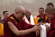Далай-лама прибыл в долину Нубра, Ладак 20 июля 2010.