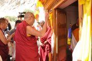 Церемония освящения в монастыре Ярма Гонбо.