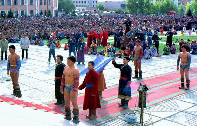 Речь Далай-ламы на на центральной площади г.Кызыла
