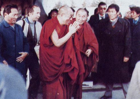 Пресс-конференция Далай-ламы в в Доме Правительства в Кызыле 22 сентября 1992 года