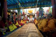 Пуджа долгой жизни в монастыре Самтенлинг в долине Нубра. 21 июля 2010