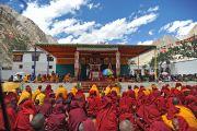 Его Святейшество Далай-лама дает краткие учения в монастыре Яма Гонпо, Ладак. 23 июля 2010