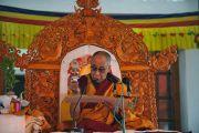 Его Святейшество Далай-лама дарует учения в монастыре Дискет, Ладак. 27 июля 2010