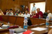 Вступительная беседа перед началом диалога со студентами и преподавателями Делийского университета. 9 августа 2010