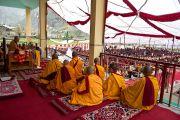 Его Святейшество дает учения в Джиспе, Химачал Прадеш, 19 августа 2010