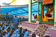 Его Святейшество дает учения в Манали, 22 августа 2010.