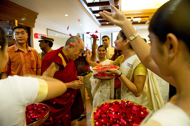 Кочи встречает Далай-ламу с любовью и почитанием