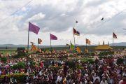 Тибетцы на церемонии в монастыре Сера в Билакуппе, штат Карнатака, Индия. 1 сентября 2010