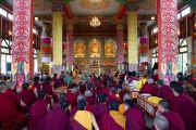 Далай-лама дает учения в монастыре Дорзонг  Тубтен Донгак Рабгьял Чолинг 12 сентября 2010. Фото: Магюэль Бауэр