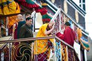Его Святейшество Далай-лама прощается с жителями Бодх Кхарбо, Ладак, Индия, 16 сентября 2010 г.