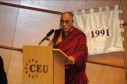 Его Святейшество Далай-лама в Центрально-Европейском университете, Будапешт, Венгрия, 20 сентября 2010 г.