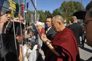 Жители Пассау приветствуют Далай-ламу, Германия, 21 сентября 2010 г.