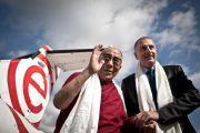 Мэр Вроцлава встречает Его Святейшество Далай-ламу, Польша, 22 сентября 2010 г.