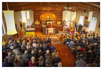 Далай-лама освятил новый храм института Дрепунг Лоселинг в Атланте