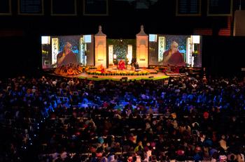 Далай-лама прочитал в университете Эмори лекцию о природе и практике сострадания