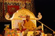 Его Святейшество Далай-лама во время учений в Сан-Хосе, Калифорния, 13 октября 2010 г.