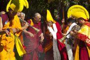 Его Святейшство Далай-лама прибыл в монастырь Дрепунг Лоселинг в Атланте, 16 октября 2010 г.