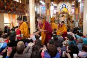 Подготовительные ритуалы к посвящению Гухьясамаджи на учениях Далай-ламы для буддистов из России. Дхарамсала, Индия. 30 ноября 2010 г. Фото: Тензин Чойджор/ОЕСДЛ