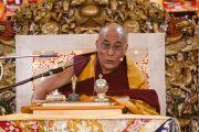 Его Святейшество Далай-лама дает учения для буддистов из России. Дхарамсала, Индия. 30 ноября 2010 г. Фото: Тензин Чойджор/ОЕСДЛ