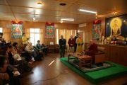 Пресс-конференция Далай-ламы для российских журналистов. Дхарамсала, Индия. 29 ноября 2010 г. Фото: Игорь Янчеглов