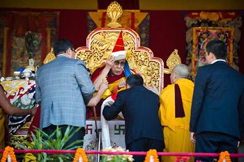 Молебен о долголетии Его Святейшества Далай-ламы в Сиккиме