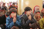 Его Святейшество Далай-лама даровал паломникам из Калмыкии, Бурятии, Тувы и других регионов России посвящение Гухьясамаджи. Дхарамсала, Индия. 1 декабря 2010 г.