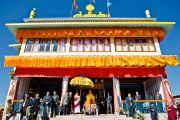 Его Святейшество Далай-лама обращается к тибетцам в Равангле, Сикким, Индия, 18 декабря 2010. Фото Тензин Чойджор (Офис ЕСДЛ)