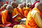 На учениях Его Святейшества Далай-ламы в Сарнатхе, Индия, 13 января 2011. Фото: Тензин Чойджор (Офис ЕСДЛ)