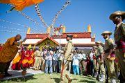 Прибытие Его Святейшества Далай-ламы в монастырь Рато в Мандгоде. Карнатака, Индия, 31 января 2011. Фото: Тензин Чойджор (офис ЕСДЛ)