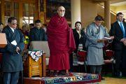 Его Святейшество Далай-лама на торжественном мероприятии по случаю 52-й годовщины Тибетского народного восстания. Дхарамсала, Индия. 10 марта 2011