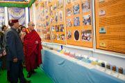 Его Святейшество Далай-лама посетил выставку, посвященную 50-летию Института тибетской медицины и астрологии. Дхарамсала, Индия. 23 марта. Фото: Тензин Чойджор (Офис ЕСДЛ)