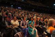 """На встрече """"Знакомьтесь, Далай-лама"""", подготовленной шведской организацией Individual Relief (IM). Стокгольм, Швеция. 15 апреля 2011. Фото: Тензин Такла (Офис ЕСДЛ)"""