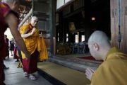 Его Святейшество Далай-лама в буддийском храме в Токио, Япония. 28 апреля 2011.