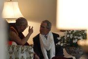 Его Святейшество Далай-лама и президент Дж. У. Буш в его резиденции. Даллас, штат Техас. 10 мая 2011. Фото: Layne Murdoch