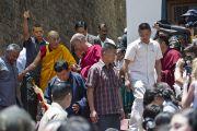Отъезд Его Святейшества Далай-ламы из Тибетской детской деревни. Дхарамсала, Индия. 4 июня 2011. Фото: Тензин Чойджор (Офис ЕСДЛ)
