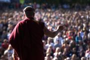 Более 8000 человек пришли послушать Его Святейшество Далай-ламу. Брисбен, Австралия. 17 июня. Фото: Rusty Stewart/DLAI