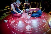 Монахи монастыря Намгьял приступили к строительству мандалы Калачакры. Вашингтон, округ Колумбия. 8 июля 2011. Фото: Тензин Чойджор (Офис ЕСДЛ)][http://dalailama.ru/uploads/posts/2011-07/1310185258_06.jpg