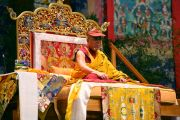 Его Святейшество Далай-лама во время учений в Тулузе, Франция. 14 августа 2011. Фото: Игорь Янчеглов