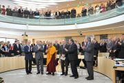 Его Святейшество Далай-лама в парламенте земли Гессен. Висбаден, Германия. 23 августа 2011. Фото: Tibet Bureau Geneva