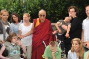 Далай-лама в школе Johann-Peter-Schafter-Schule
