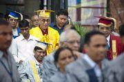 Его Святейшество Далай-лама в Национальном открытом университете имени Индиры Ганди. Дели, Индия. 5 сентября 2011. Фото: Тензин Чойджор (Офис ЕСДЛ)