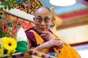 Его Святейшество Далай-лама в буддийском центре Манджушри. Лонгёй, Канада. 7 сентября 2011. Фото: Tenzin Dorjee