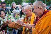 Его Святейшество Далай-лама в буддийском центре Манджушри. Лонгёй, Канада. 7 сентября 2011. Фото: Jean-Marc (JM) Duchesne