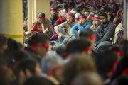 На учения Его Святейшества Далай-ламы приехали буддисты из США, стран Европы и Индии. Дхарамсала, Индия. 23 октября 2011. Фото: Тензин Чойджор (Офис ЕСДЛ)