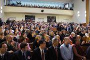 Во время выступления Его Святейшества Далай-ламы на конференции «Демократия и права человека в Азии: пустое кресло в Осло год спустя» в Карловом университете. Прага, Чехия. 11 декабря 2011. Фото: Тензин Такла (Офис ЕСДЛ)