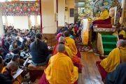 Его Святейшесвто Далай-лама дарует учения для буддистов России по просьбе досточтимого Ело Ринпоче и верховного ламы Калмыкии Тэло Тулку Ринпоче. 21 декабря 2011. Дхарамсала, Индия. Фото: Тензин Чойджор, Офис ЕСДЛ