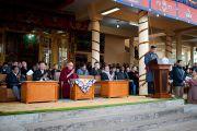 Пенпа Церинг, спикер тибетского парламента в эмиграции, обращается к участникам торжественной церемонии, посвященной 53-й годовщине Тибетского народного восстания. Дхарамсала, Индия. 10 марта 2012 г. Фото: Тензин Чойджор (Офис ЕСДЛ)