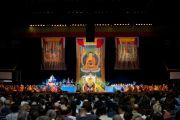Его Святейшество Далай-лама в первый из двух дней учений по Ямантаке в Лонг-Бич, штат Калифорния. 21 апреля 2012 г. Фото: Don Farber