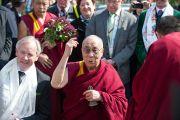 Церемония благословения площадки для строительства будущего Тибетского центра. Кнаппенберг, Австрия. 18 мая 2012 г. Фото: Тензин Чойджор (Офис ЕСДЛ)