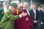 Его Святейшество Далай-лама на родине Генриха Харрера в Хуттенберге, Австрия. 18 мая 2012 г. Фото: Тензин Чойджор (Офис ЕСДЛ)